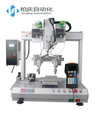 Double head single Y automatic soldering machine