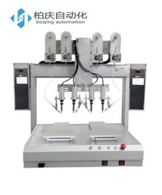 Four-head double Y automatic soldering machine