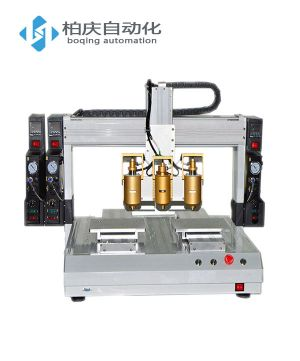三头双工位热熔胶自动点胶机