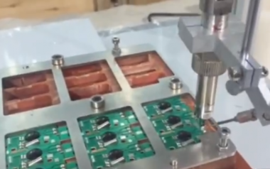 Video of ignition coil automatic soldering machine